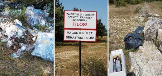Balatonakali tájvédelmi területén szemetelés