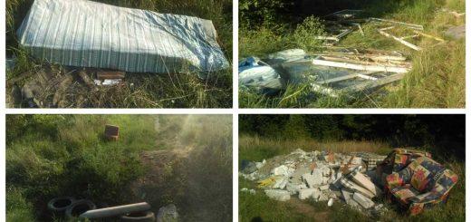 Esze Tamás Laktanya hulladékhalmai Vácot