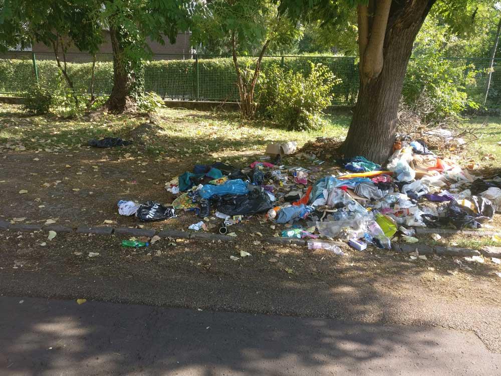 Főként kommunális hulladék található a helyszínen. / Fotó: hulladekvadasz.hu