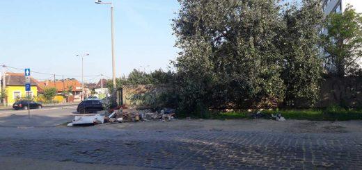 Névtelen utca hulladéklerakatai a XX. kerületben