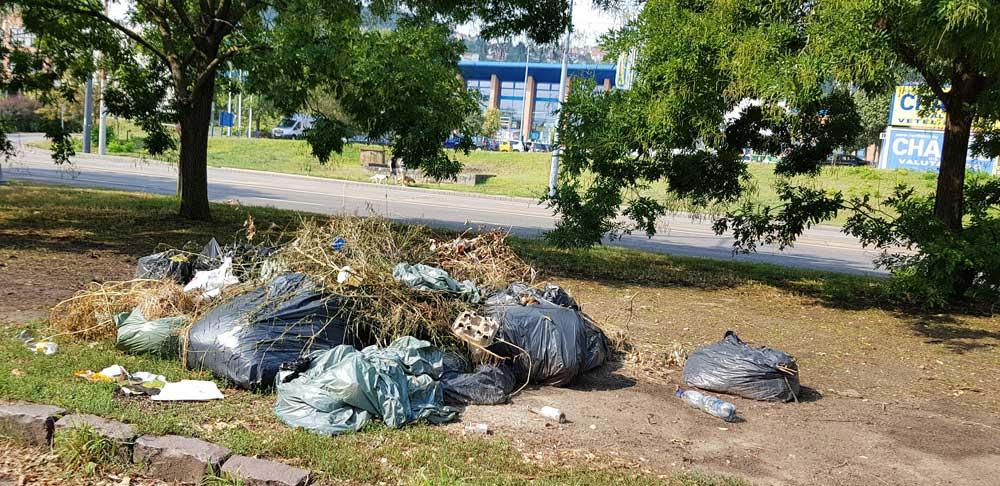 Van itt már minden, nem csak zöldhulladék. Egy szemétdomb felnövekvőben. / Fotó: hulladekvadasz.hu