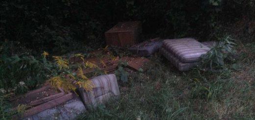 Kidobott bútorok Budakeszi határában