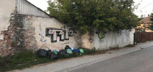 Kredenits Sándor utca kommunális hulladékai