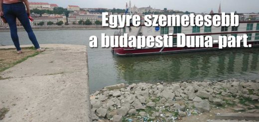 Turista taszító látvány a budapesti Duna-part