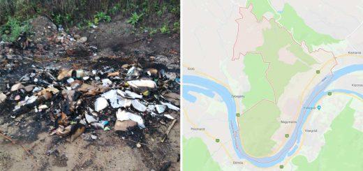 Borzalmas bűz és hulladékégetés Nagymaroson