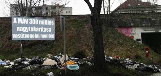 MÁV hulladék eltakarításba kezd vasútvonalain