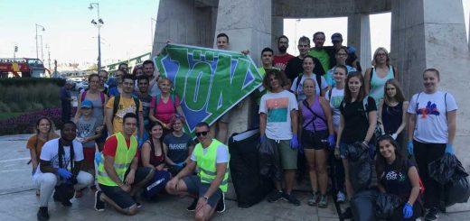 Magyarországi World Cleanup Day a Gellért-hegyen