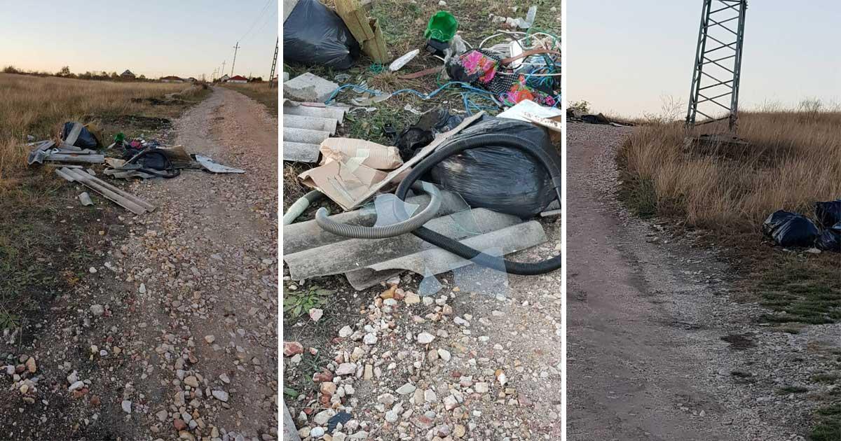 A napokban több illegális hulladéklerakás jött létre a területen.