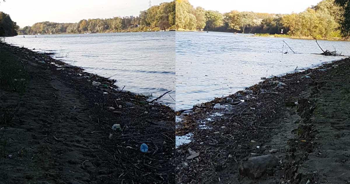 """""""Balra nézek hulladék, jobbra nézek hulladék és előttem a folyó."""" - bejelentő. / Fotó: hulladekvadasz.hu"""