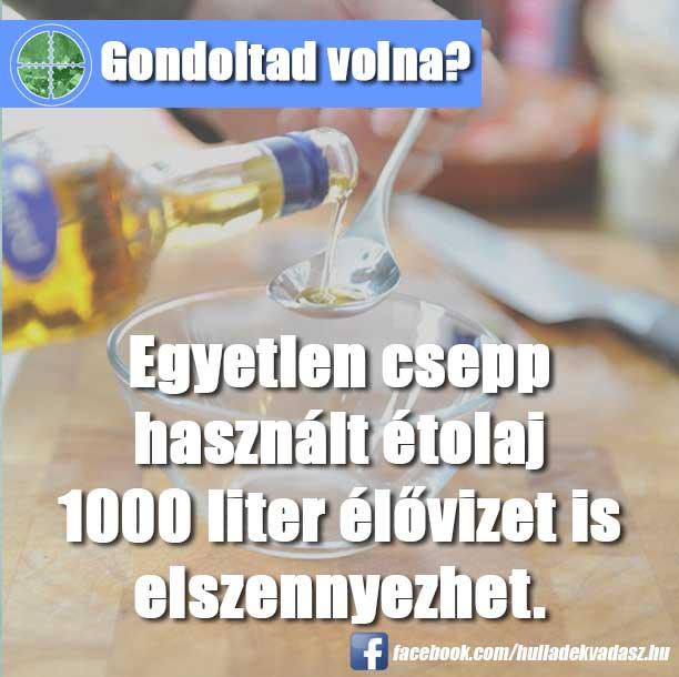 Ez megfelel körülbelül 50 ember évi ivóvízkészletének szennyezésével.