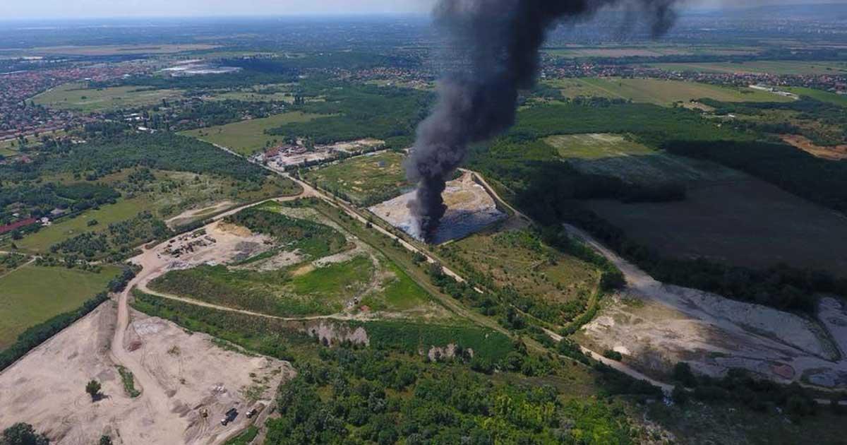 A kép illusztráció, de már láttunk hasonló nagyságú lakossági hulladékégetést is. / Fotó: Kiss Gábor