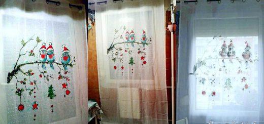 Karácsonyi minta a függönyre