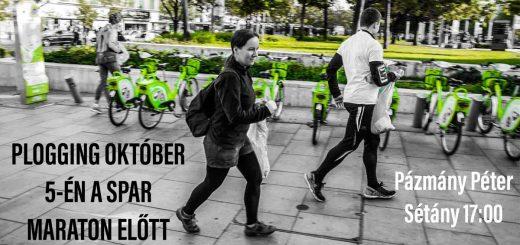 Spar Budapest Maraton előestéjén plogging