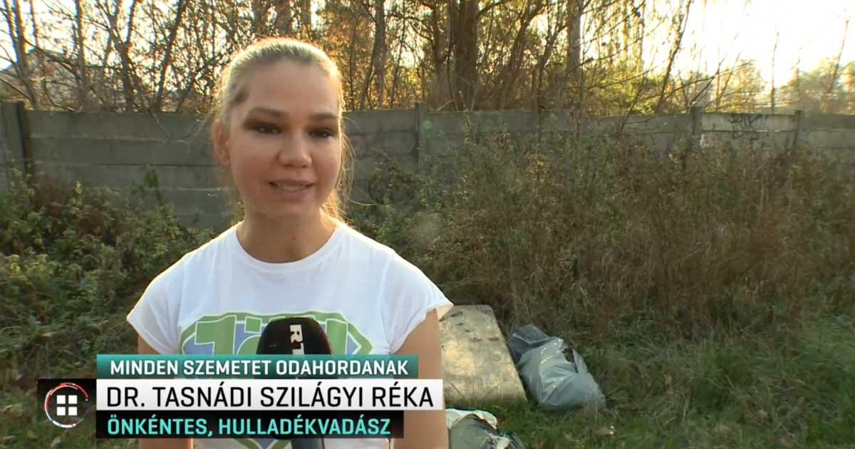 Élete első televíziós nyilatkozata alkalmával Dr. Tasnády-Sziágyi Réka. / Fotó: RTL.hu