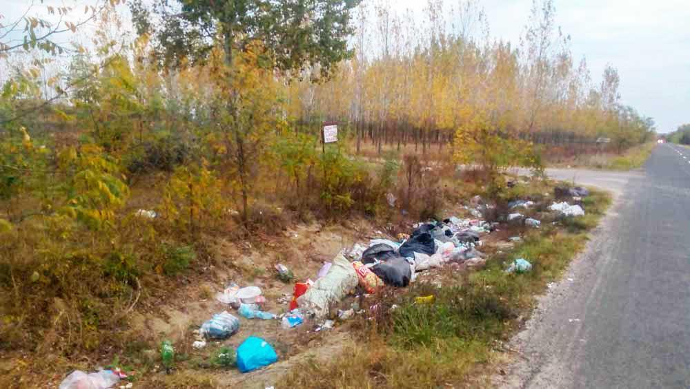 Csongrád hulladékkal megtelt külterületi árkai