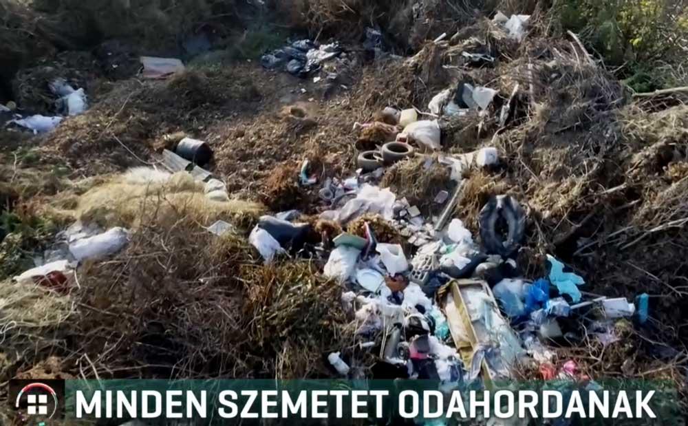 Hulladéklerakatok egy drón szemével. / Fotó: hulladekvadasz.hu