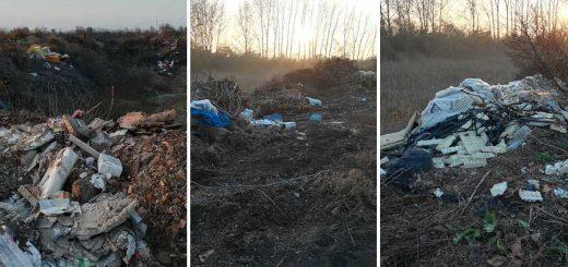 Hatalmas mennyiségű hulladék Hajdúböszörmény határában