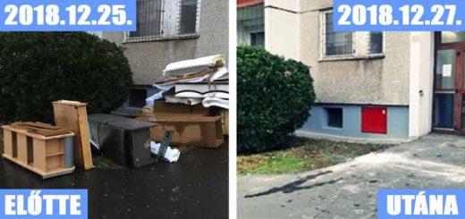 Újpest-központ: lakóház ajtajában gyűlik a lom