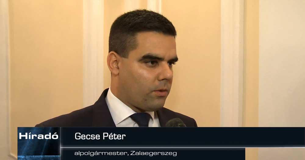 Gecse Péter, Zalaegerszeg alpolgármestere. / Fotó: zegtv.hu