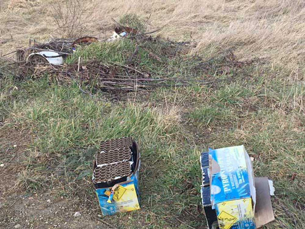 A diósdi hulladéklerakással kapcsolatos bejelentés 2018 márciusából. / Fotó: hulladekvadasz.hu