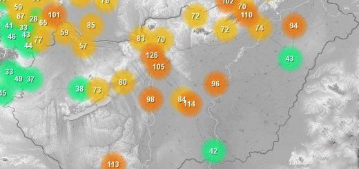Tovább nőtt a légszennyezettség az országban