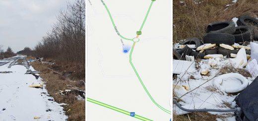 Győri Ipari Park melletti hófödte hulladéklerakatok