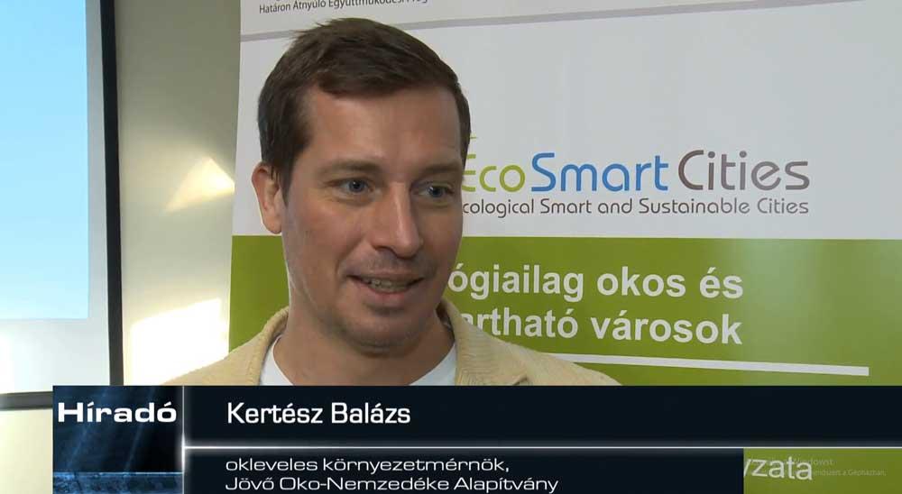 Kertész Balázs, a Zalaegerszeg TV-nek adott interjúja közben. / Fotó: zegtv.hu