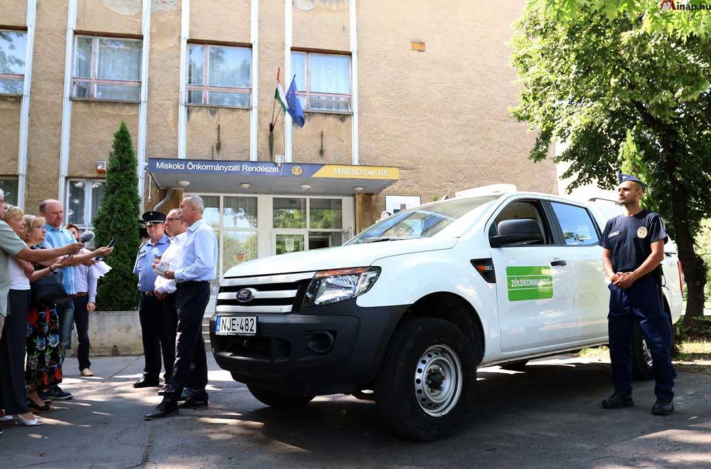 A miskolci Zöldkommandó megalakulásáról szóló sajtótájékoztató. / Fotó: mior.hu