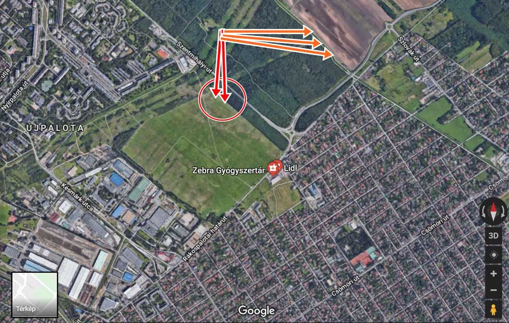 A bejelentő bejelentésében térképen jelölte a hulladéklerakatok helyét. / Fotó: Google Maps
