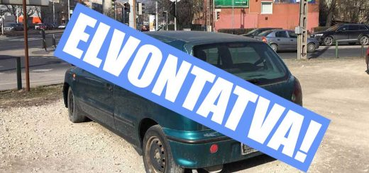 Rendszám nélküli Fiát fizetős parkolási övezetben | Zugló