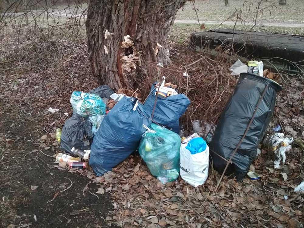 A helyszínen összegyűjtött hulladék egy része.