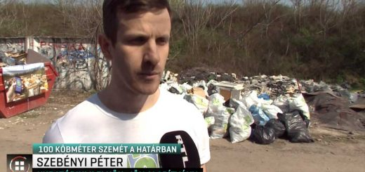 Felsőszentiván hulladékhegyénél az RTL klub Híradója