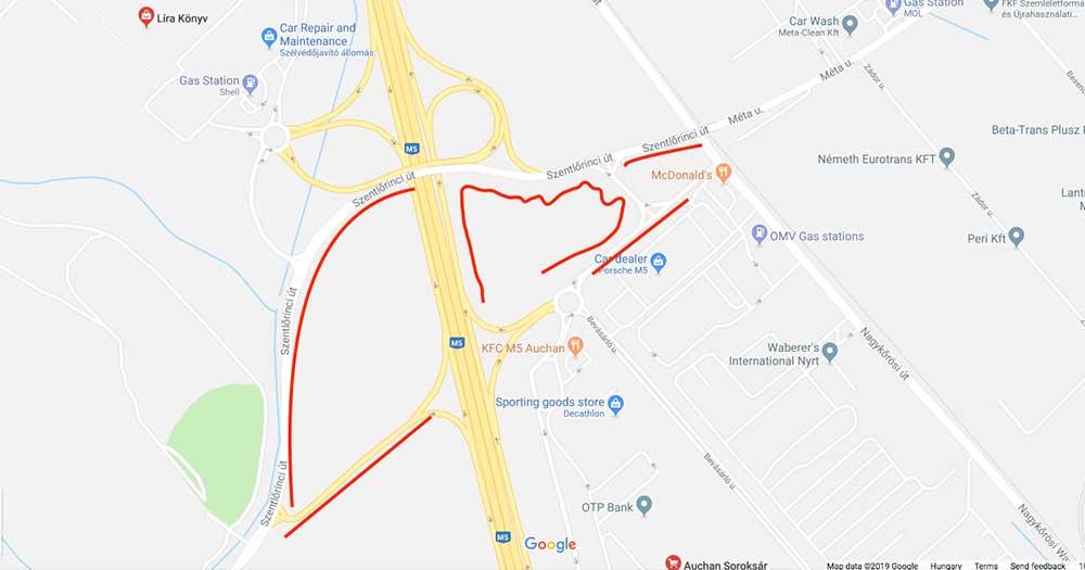 A bejelentő által szerkesztett térkép. / Fotó: Google Maps