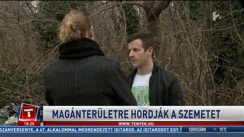 A Tv2 Tények stábjával hulladékvadászott a JÖN. / Fotó: tv2