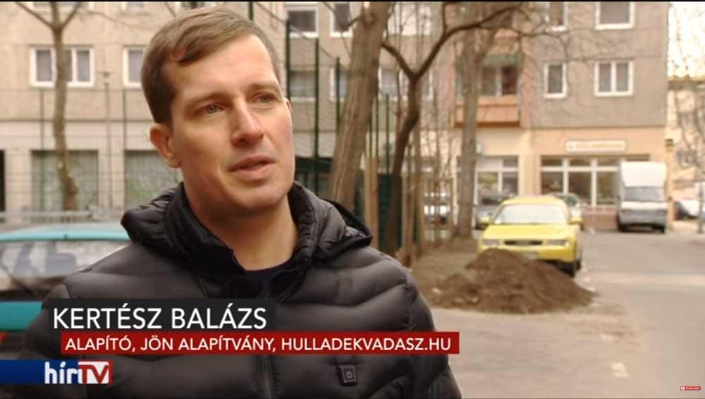 Kertész Balázs, a JÖN Alapítvány alapítója és környezetvédelmi szakértője. / Fotó: hirtv.hu