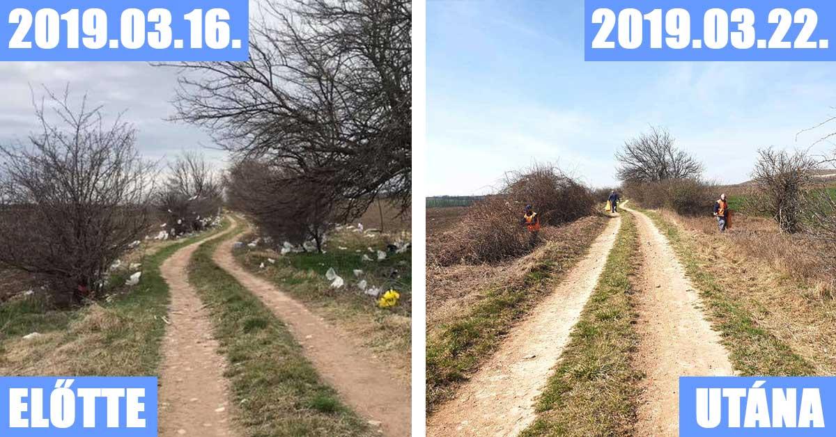 A magyarországi szervek is beálltak a #trashtag kihívás népszerűsítésébe. Itt épp az FKF Nonprofit Zrt. takarítása látható.