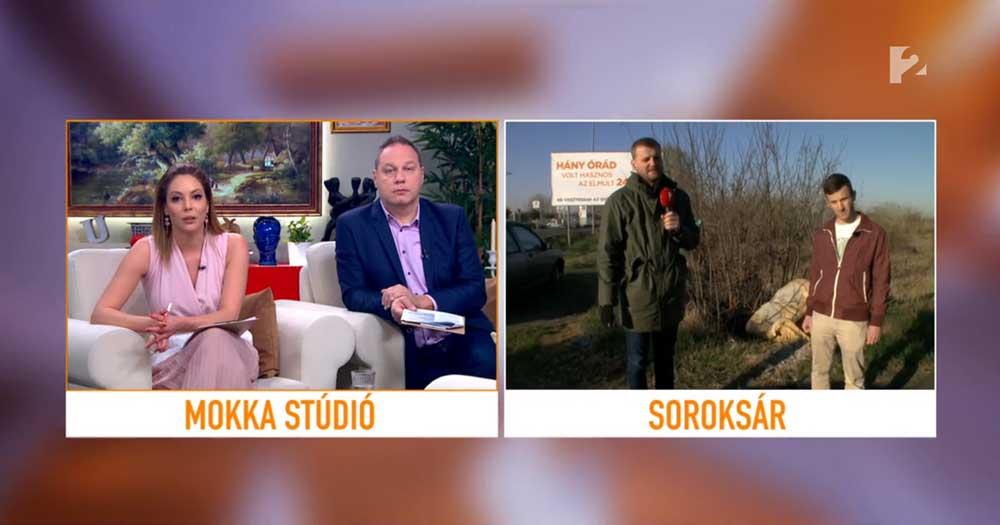 Szabó Dóra és Pachmann Péter a Tv2 Mokka stúdiójából. / Fotó: tv2.hu