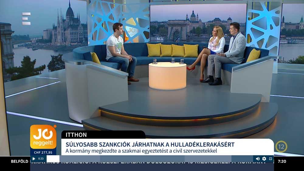 Az Echo Tv Jó reggelt! című műsorában, Szebenyi Péter, a JÖN elnöke. / Fotó: echotv.hu