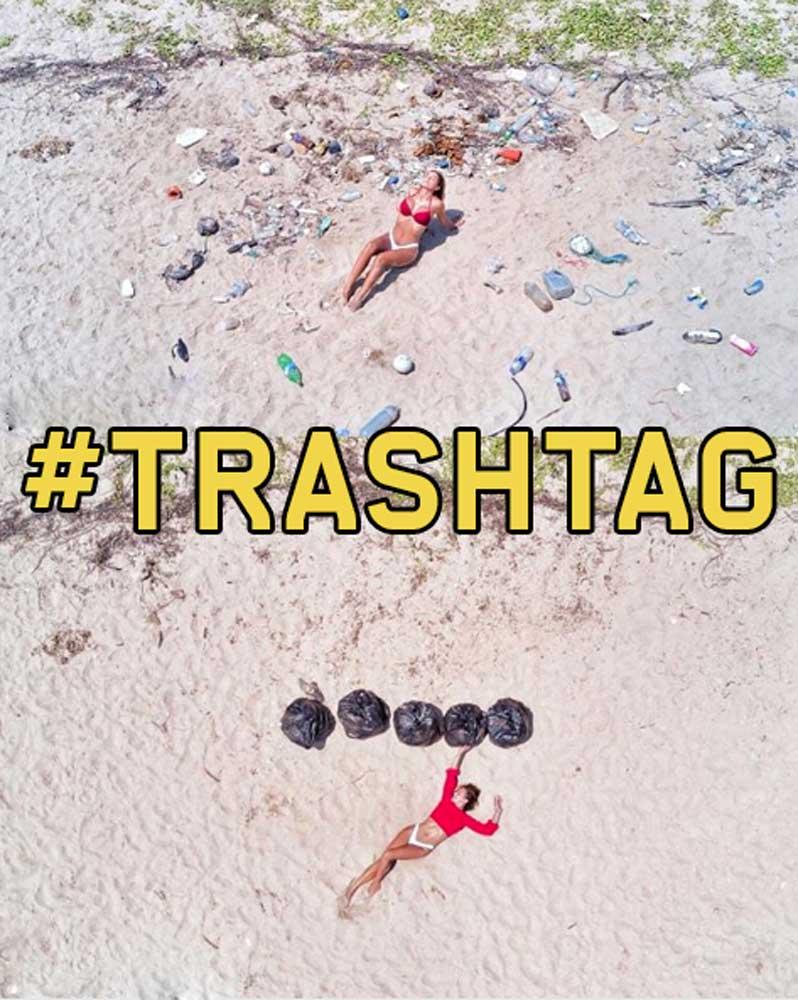 Egy kép, ami mindent elmond miért trendi az instagramon a #Trashtag Challenge. / Fotó: instagram