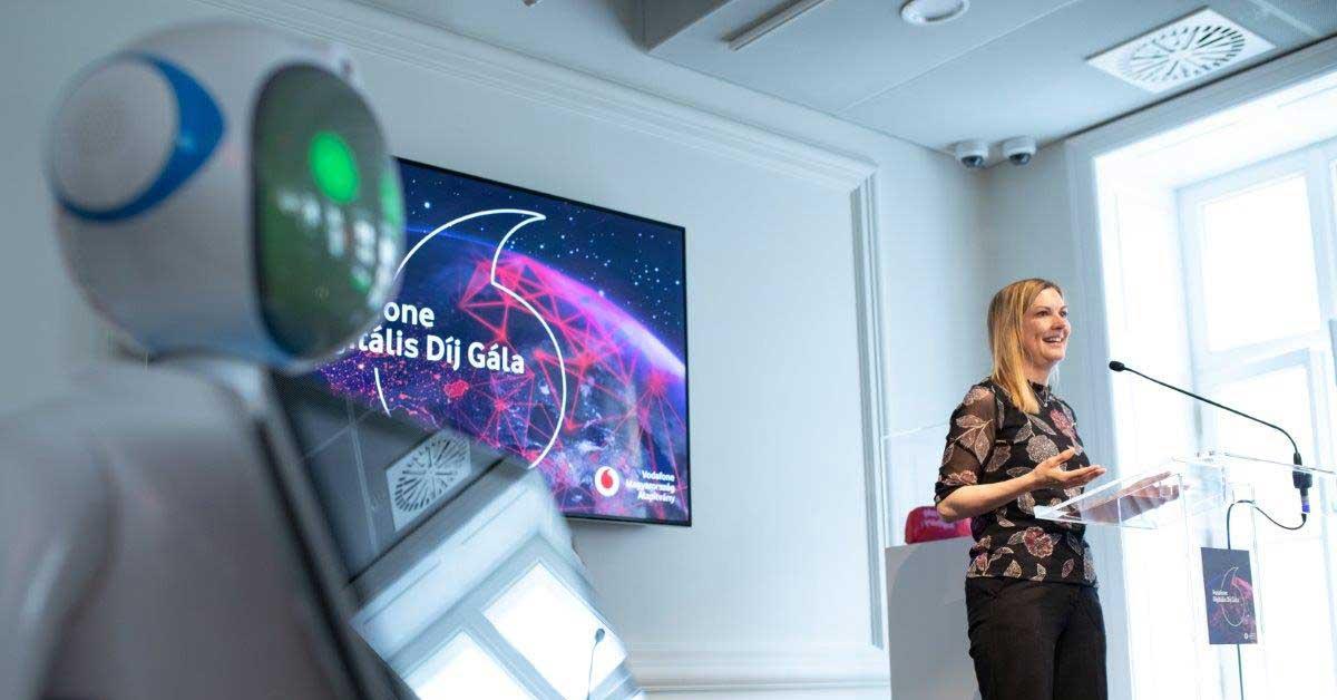 Amanda Nelson, a Vodafone Magyarország vezérigazgatója Vodafone Digitális Díj átadón. / Fotó: Vodafone / HPS