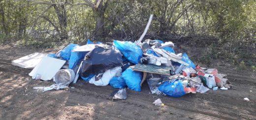 Aranyosgadány termőföldjén építési hulladék