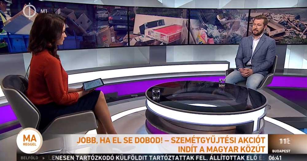 Pécsi Norbert Sándor, a Magyar Közút Nonprofit Zrt. kommunikációs osztályvezetője. / Fotó: Mtva