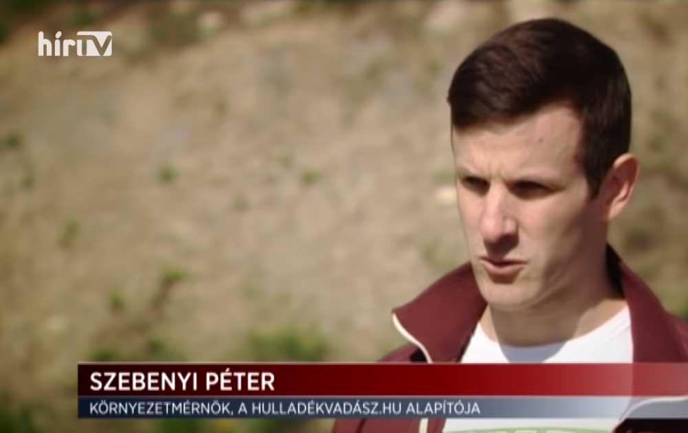 Szebenyi Péter, környezetmérnök. / Fotó: hirtv.hu