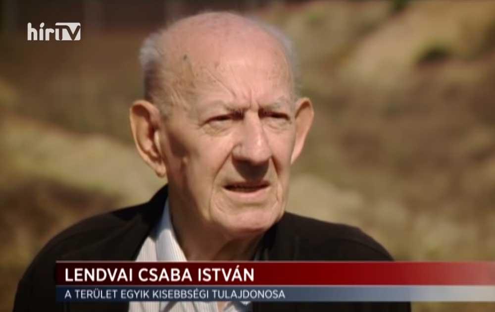 Lendvai Csaba István, a terület egyik kisebbségi tulajdonosa. / Fotó: hirtv.hu
