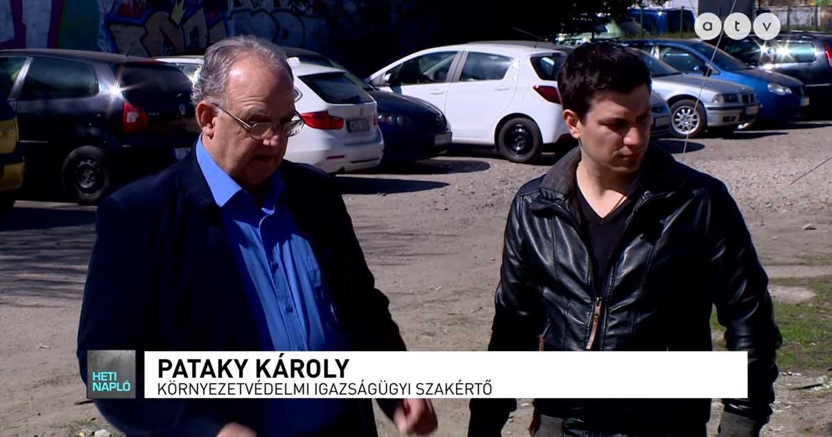 Illegális azbesztpala lerakat. / Fotó: atv.hu