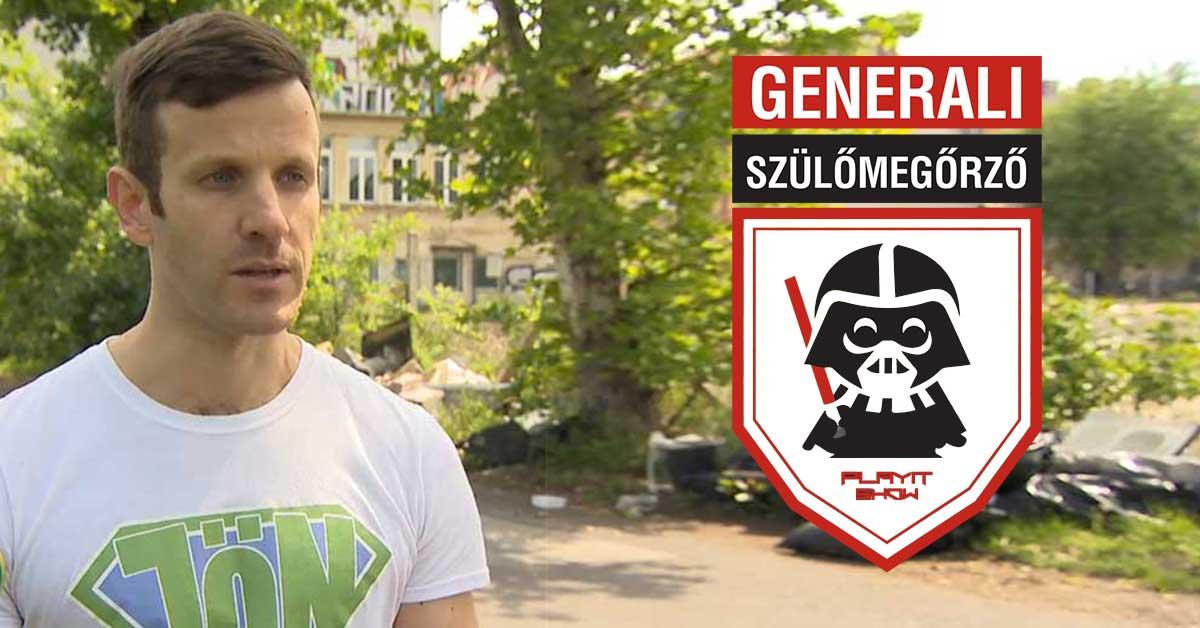 A PlayIt Szülőmegőrző programjának egyik meghívott vendége, Szebenyi Péter, környezetvédelmi influencer.