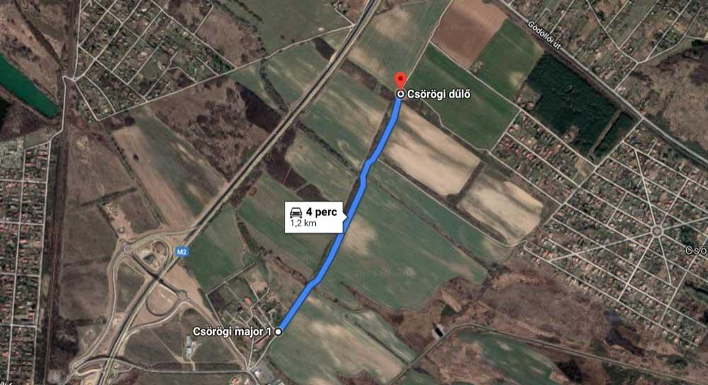A bejelentő szerint ez az 1,2 kilométeres szakasz szennyezett leginkább hulladékkal. / Fotó: Google Maps