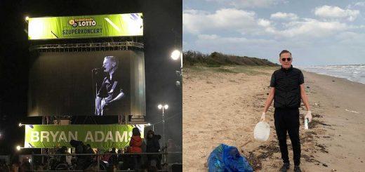 Bryan Adams szemetet szedett az óceán partján