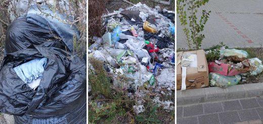 Szigetszentmiklós stadion melletti hulladéklerakatok