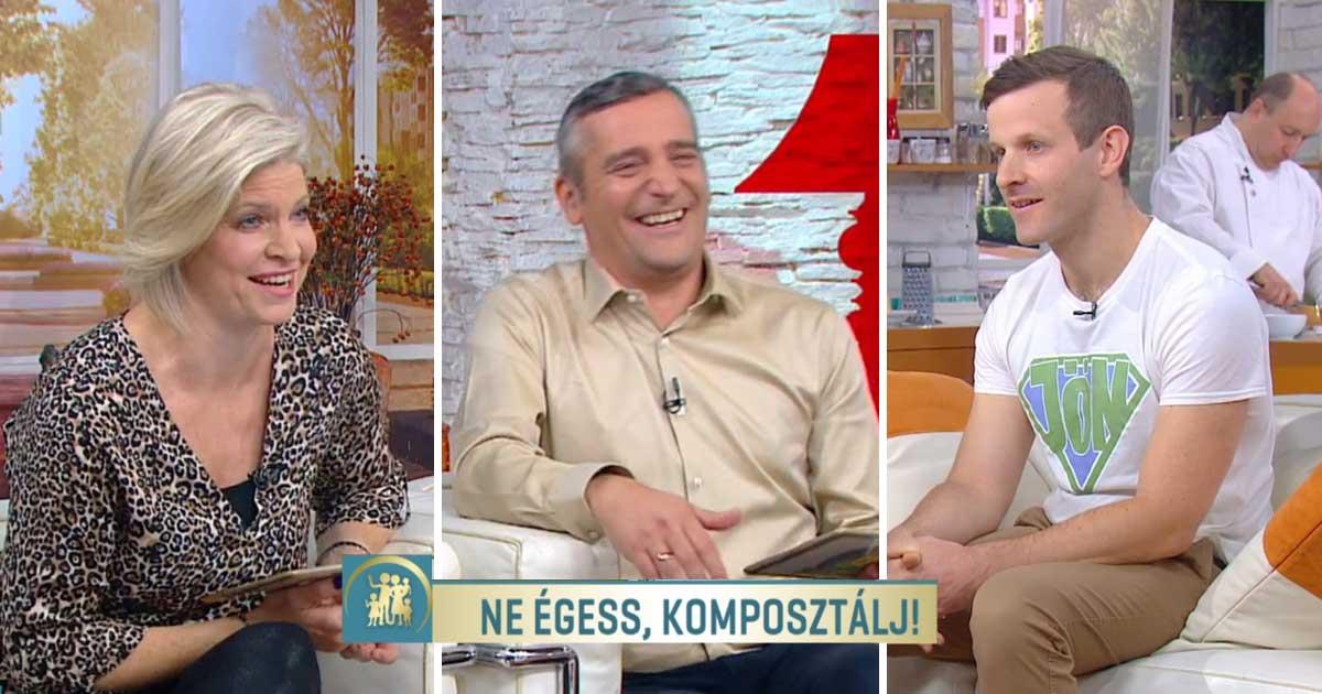 Nagyszerű hangulatban telt a délelőtt a Duna Tv magazinjában/ Fotó: mediaklikk.hu
